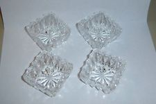 Lot of 3 Diamond cut Glass finger bowls