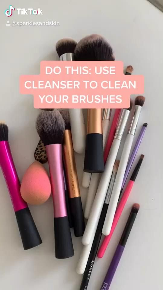 How To Clean Your Makeup Brushes Without Stripping Them Video Makeup Brushes Beginner Makeup Kit Makeup Tutorial