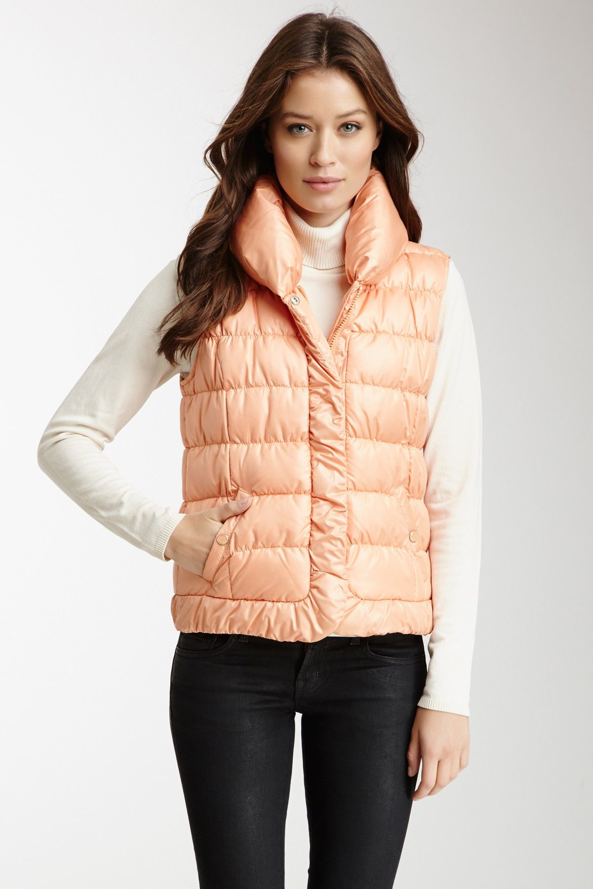 Kenneth Cole Down Bubble Vest  Vest #Pan #ZipclosureWomen #Outerwear
