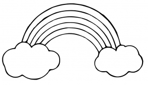 999 Rainbow Clipart Black And White Free Download Cloud Clipart Rainbow Drawing Rainbow Clipart Super Coloring Pages