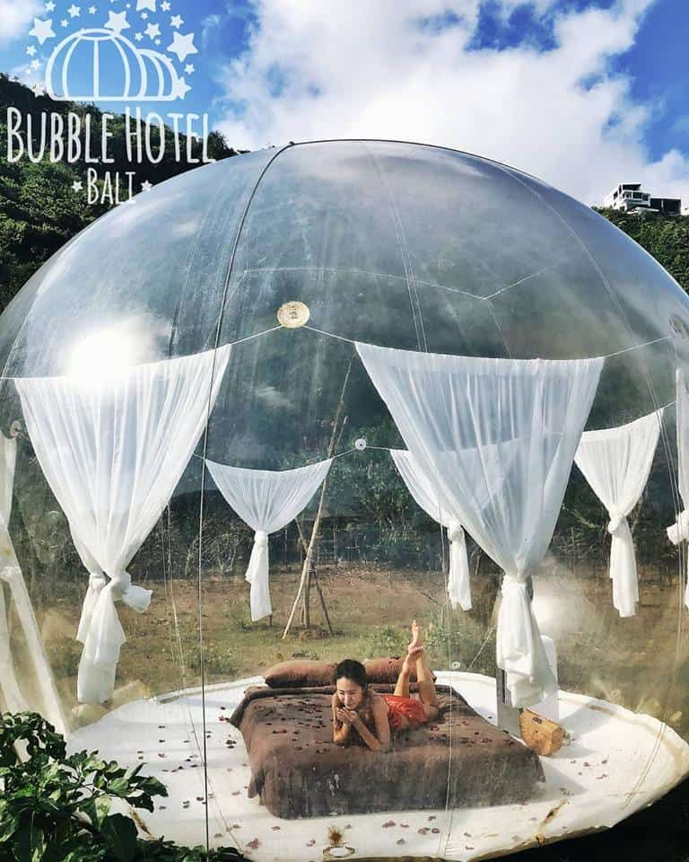 Experience Living In A Literal Bubble In Bali Bubble Tent Bubble House Tent Glamping