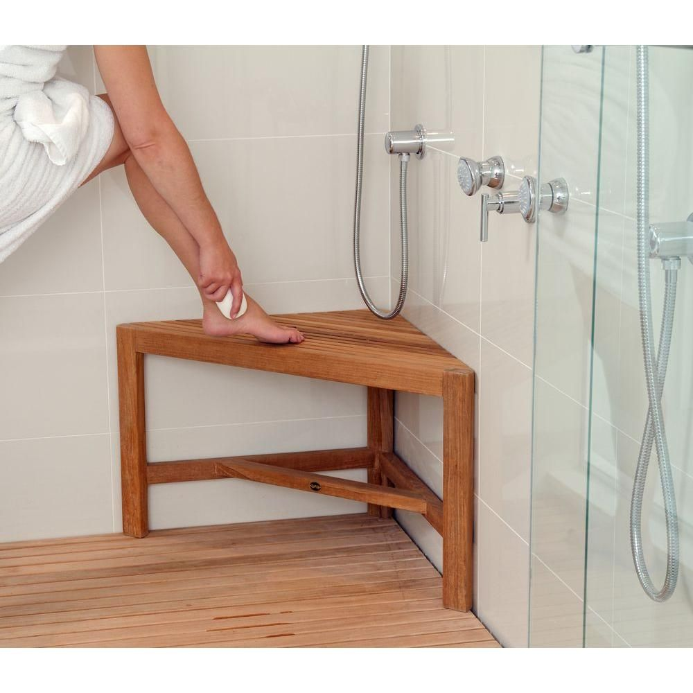 ARB Teak & Specialties 31-1/2 in. W Fiji Corner Bathroom Shower ...