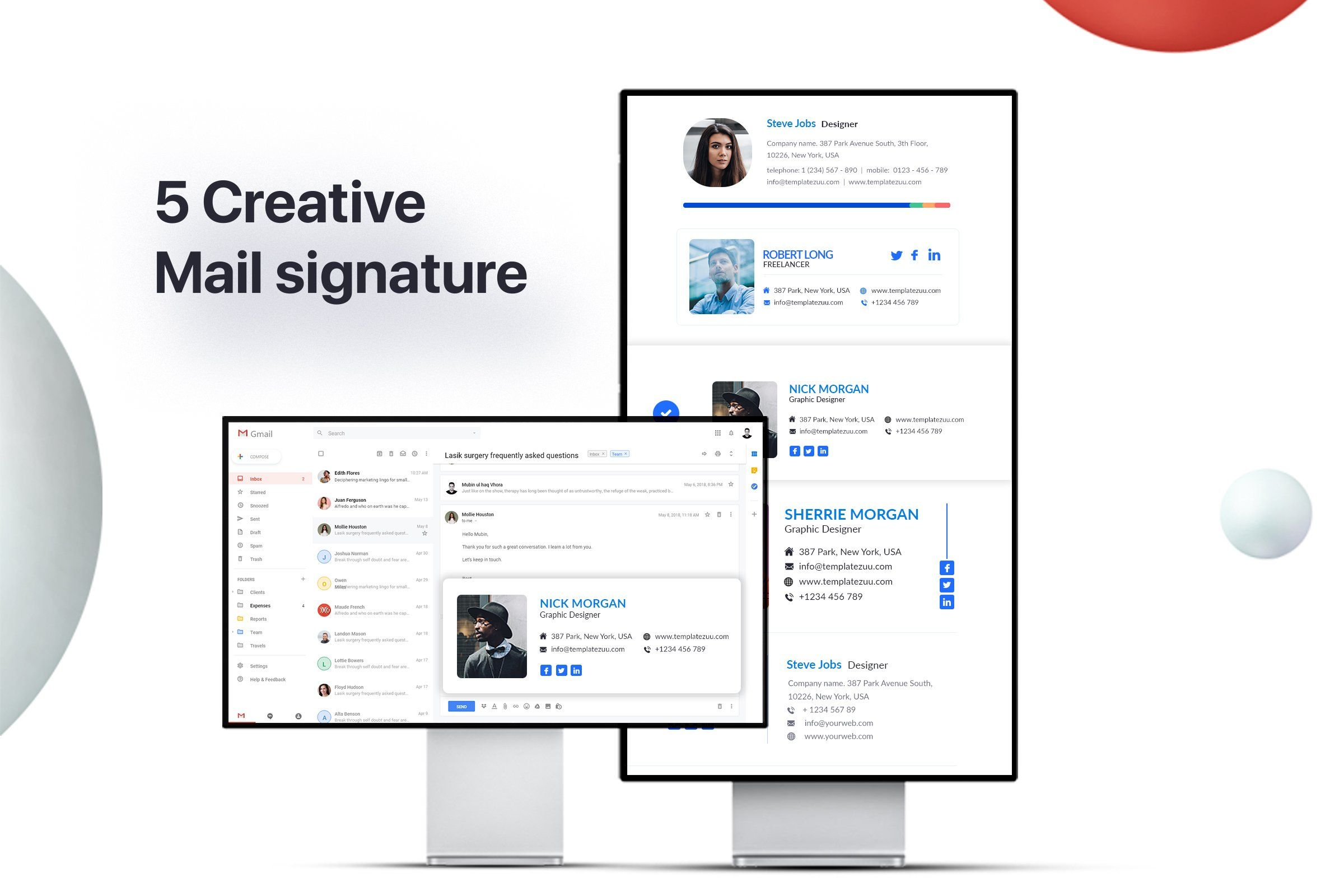 Infinitykit Email Signature V1 1 Email Signatures Creative Email Signatures Email Client