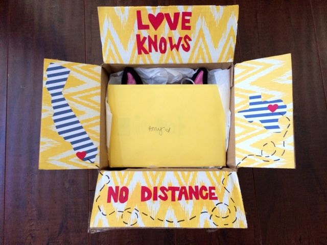 gift box for a long distance friend Gifts Pinterest Long