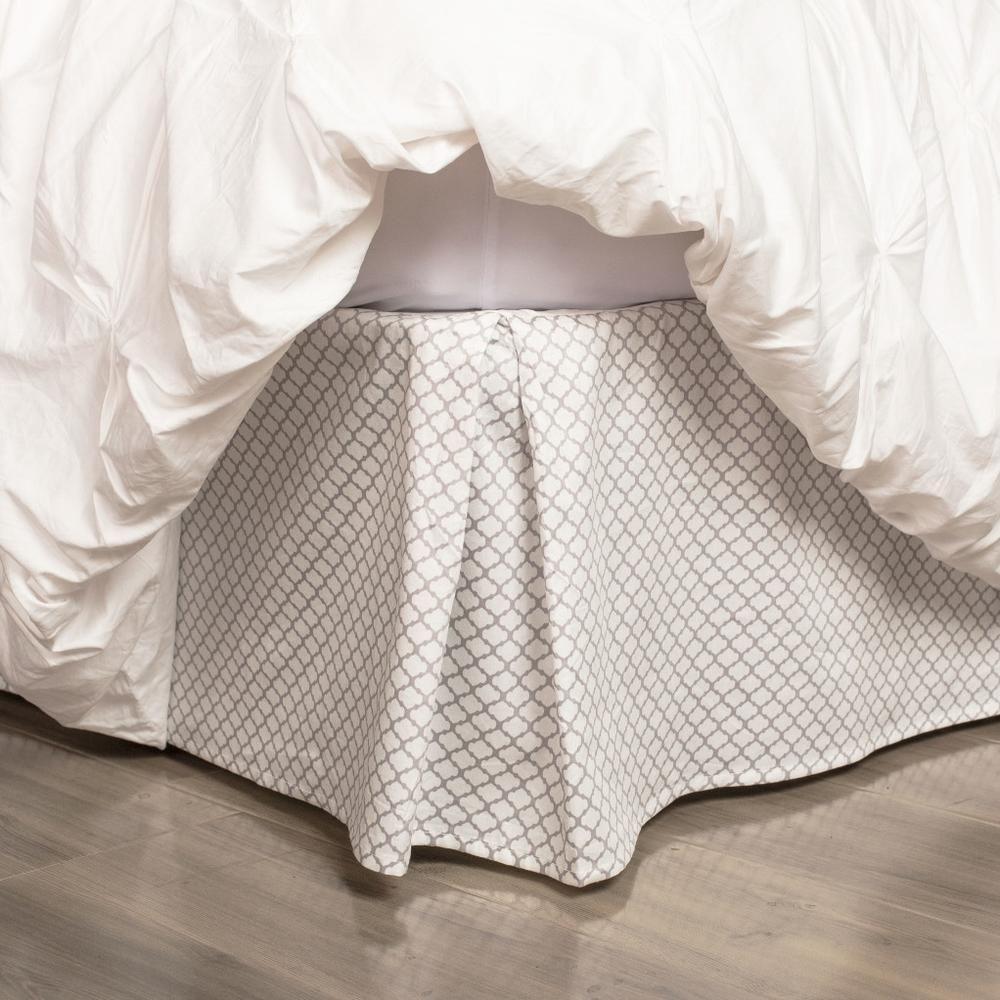 Patterned Bed Skirt Crane Canopy Bedskirt Grey Duvet Set