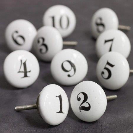 Number Knobs | Number, Door knobs and Kids rooms