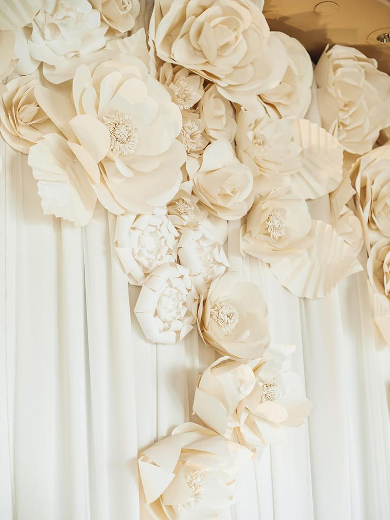 15 Chic Ways To Use Paper Flowers At Your Wedding Modern Wedding