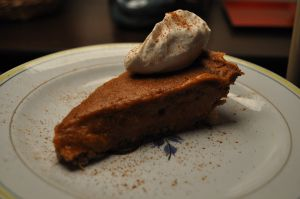 Gluten and Egg Free Pumpkin Pie from my blog!   http://subconsciouslydelicious.wordpress.com/