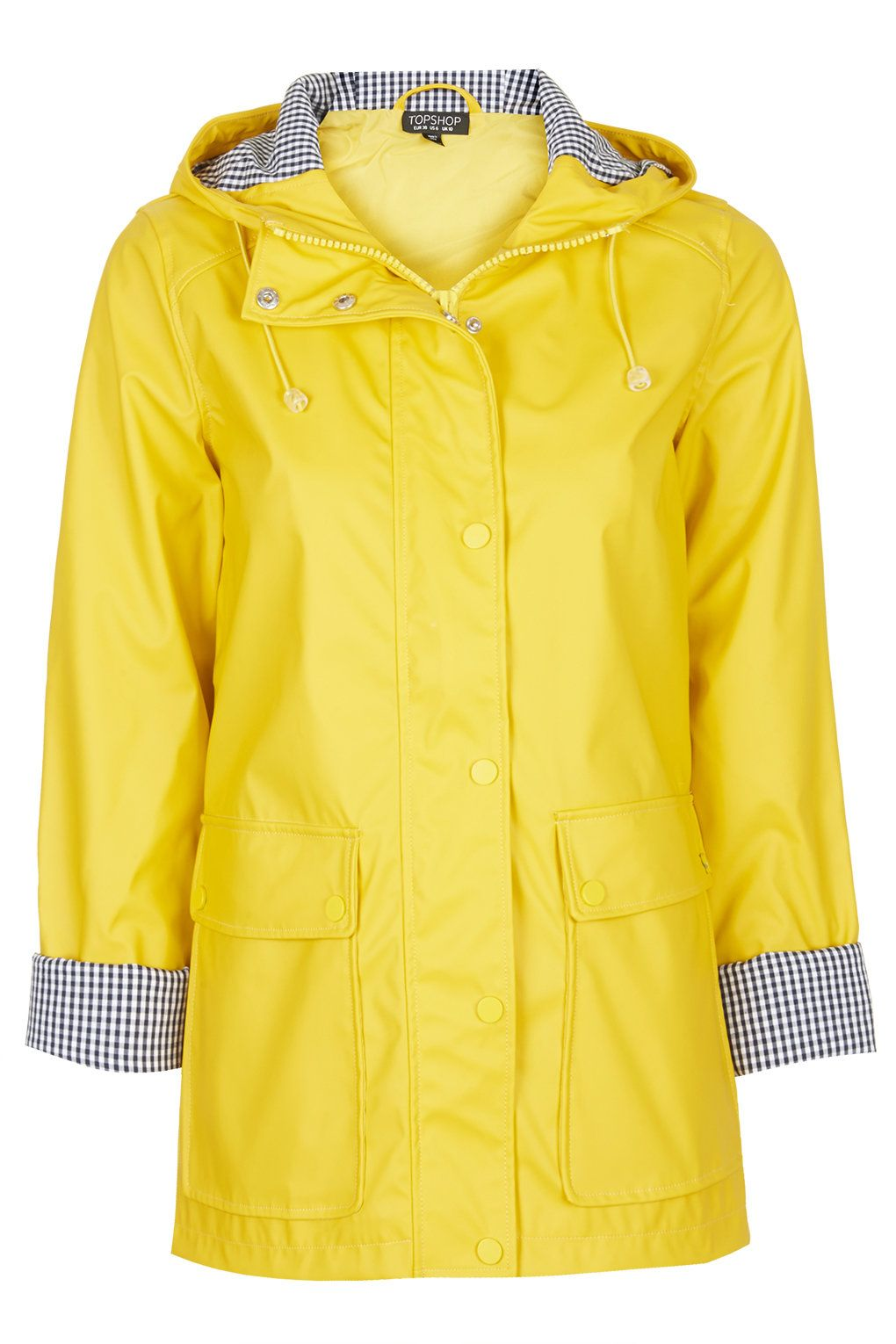 22f643c2e096 Yellow Plastic Mac - Jackets   Coats - Clothing - Topshop Europe ...