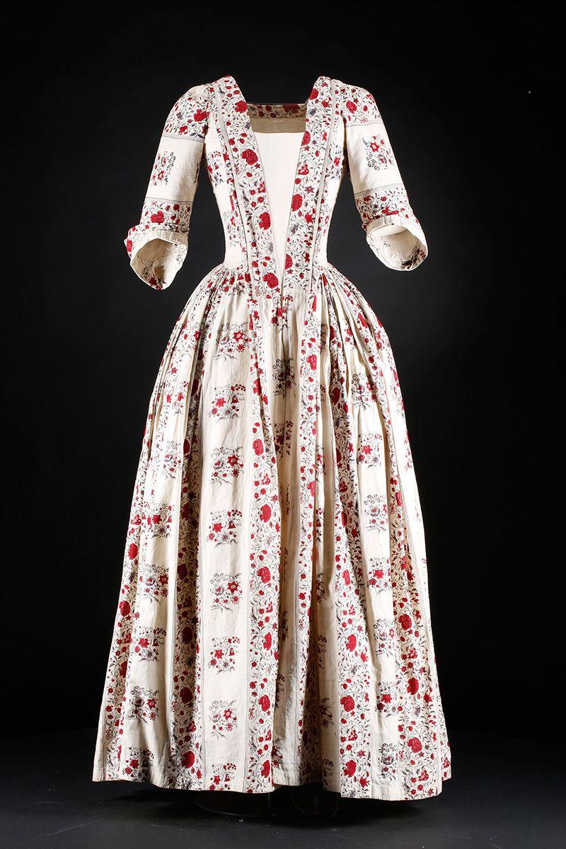 Indian print day dress, c.1740-60 | Vintage..... | Pinterest ...