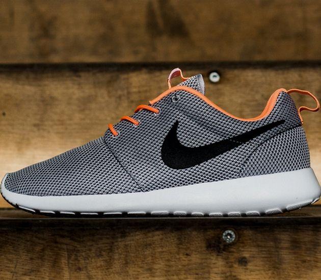 lowest price cb70d 88ff1 Nike Roshe Run – Wolf Grey   Black – Atomic Orange