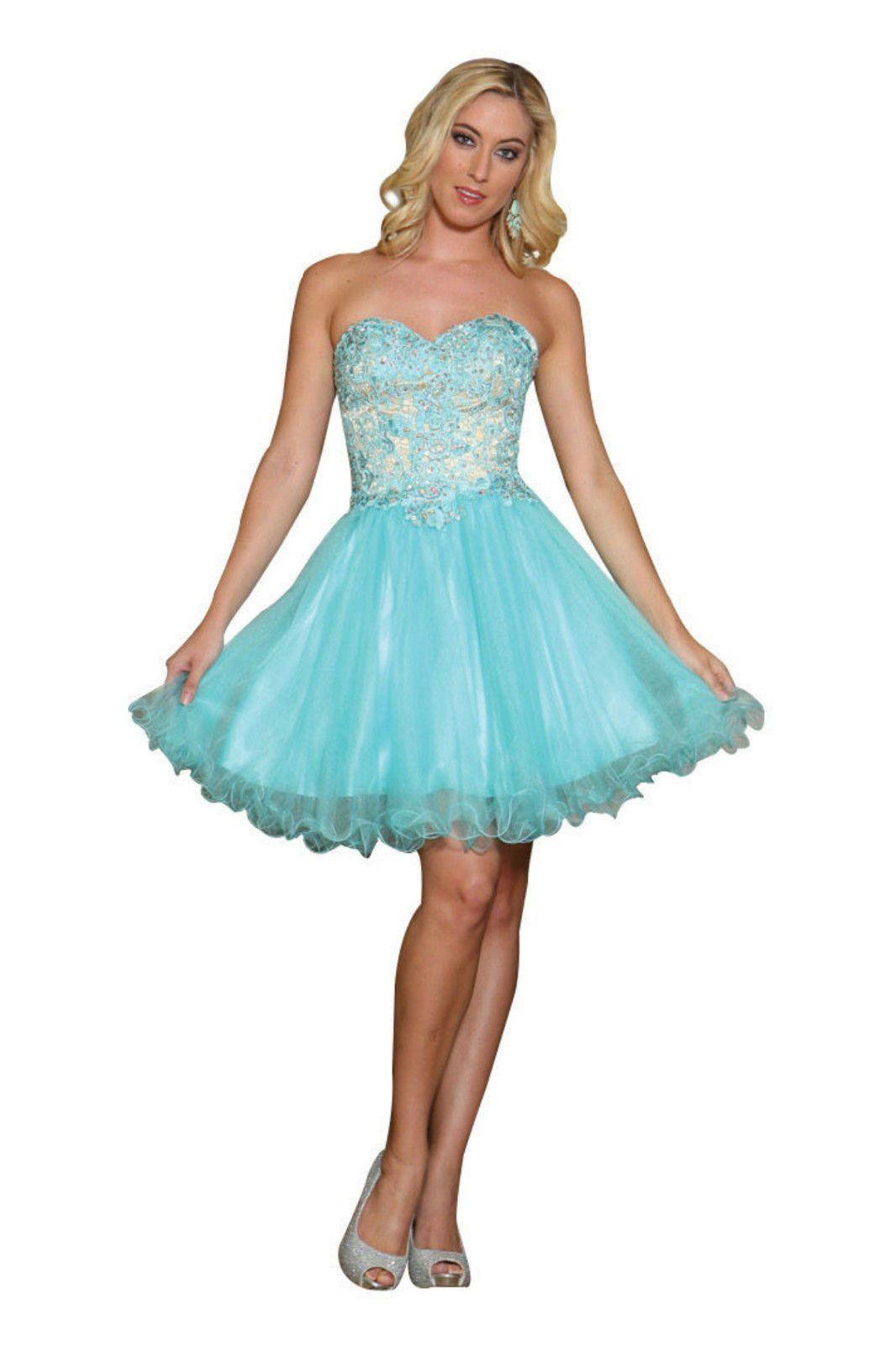 TheDressOutlet Prom Short Mini Dress | Lace applique, Sassy and Sequins