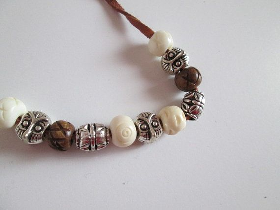 Handsome leather bracelet featuring wooden by SpuzzoWoodworking