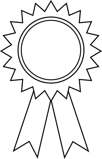 Award ribbon clipart outline clipart panda free for 1st prize ribbon template