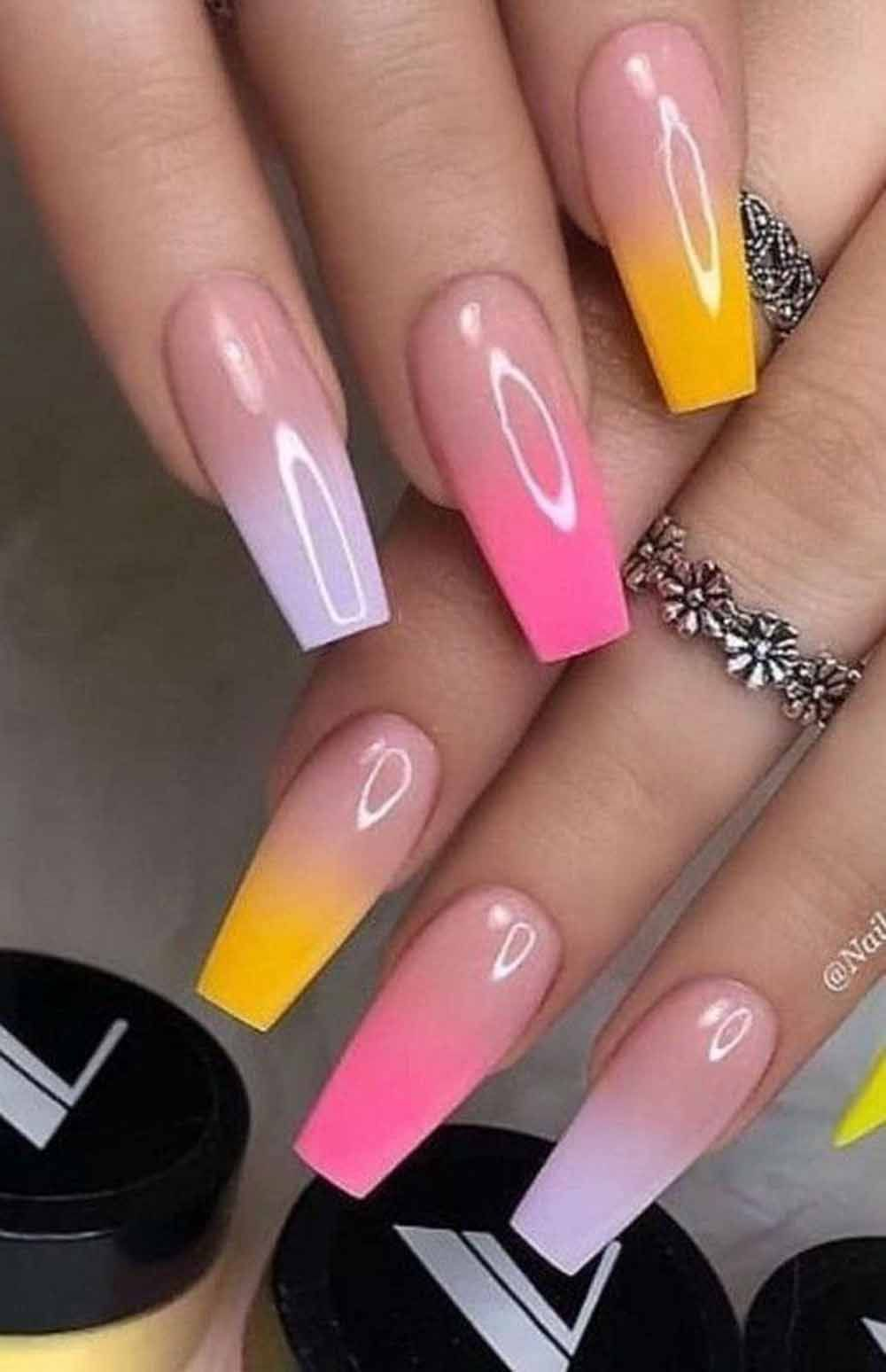 All About Nail Designs And Nail Art In 2020 Ombre Acrylic Nails Best Acrylic Nails Summer Nails Colors
