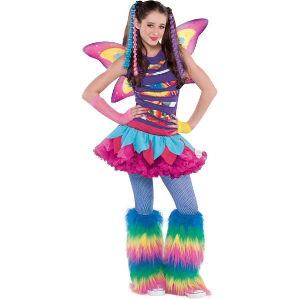 Girls Rainbow Fairy Costume  sc 1 st  Pinterest : fairy costume accessories  - Germanpascual.Com