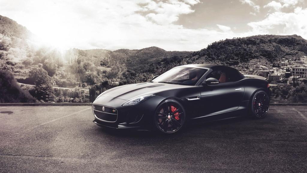 iPhone X Wallpaper 4k Jaguar F Type V8 S black supercar_1600x900 Download free | Awesome ...