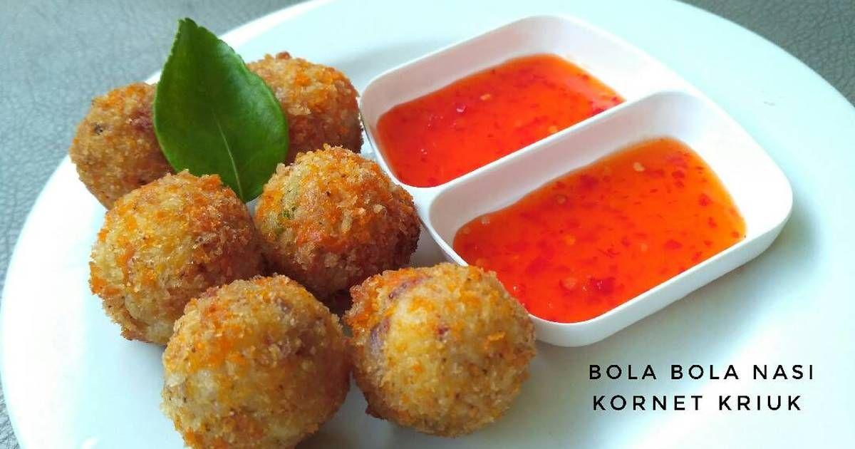 Resep Bola Bola Nasi Kornet Kriuk Oleh Melianda Erlianti Bachtiar Resep Resep Memasak Makanan Dan Minuman