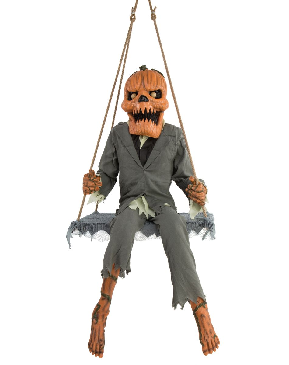 pumpkin nester animated decoration exclusively at spirit halloween saw this in person life size and it swings