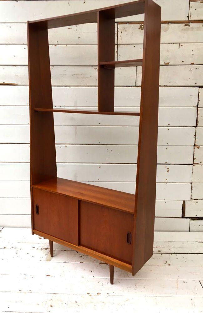 Vintage Retro Mid Century Danish Teak Room Divider Atomic Sideboard