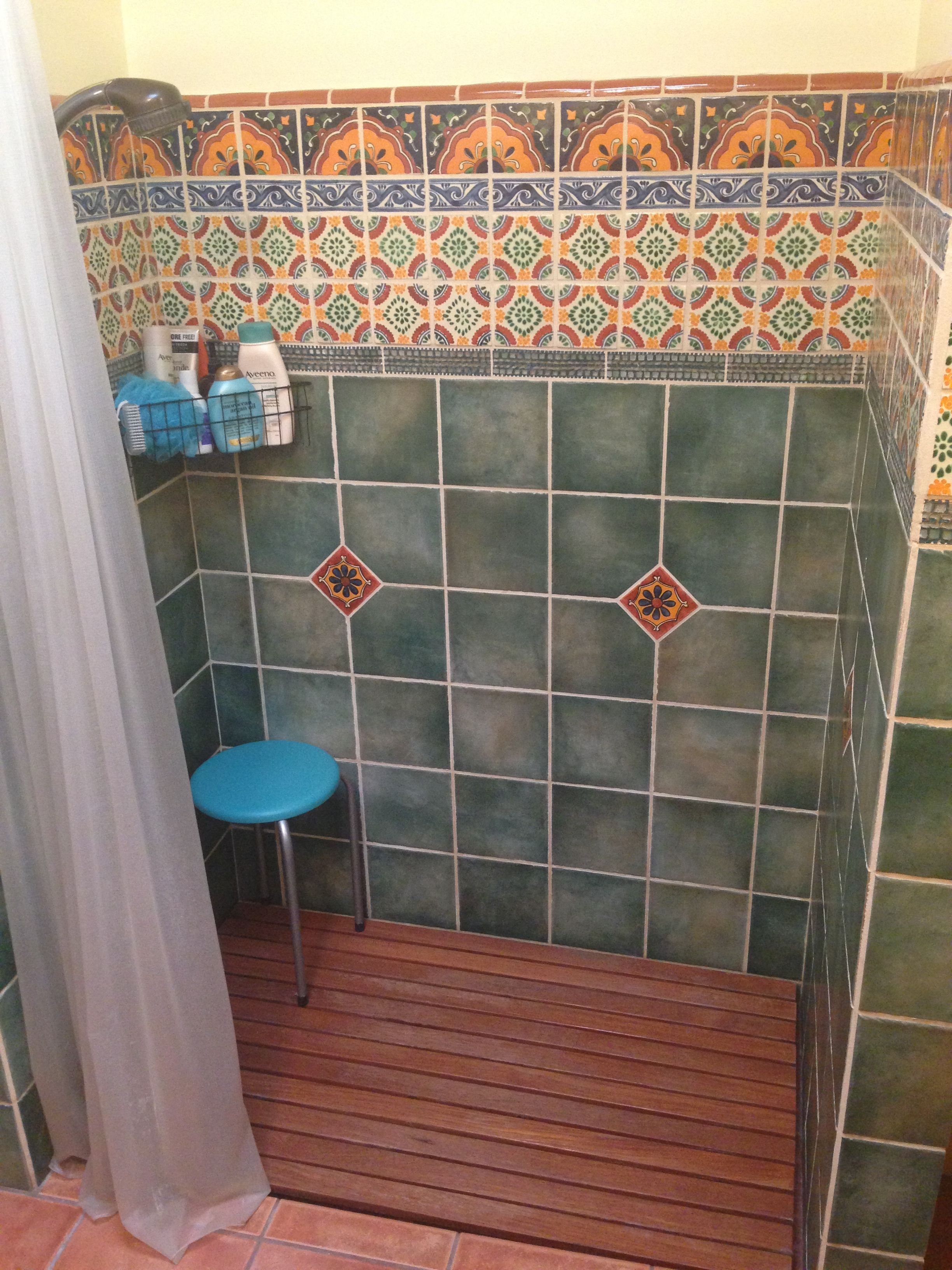 Green Mexican Tile Bathroom - Google Search