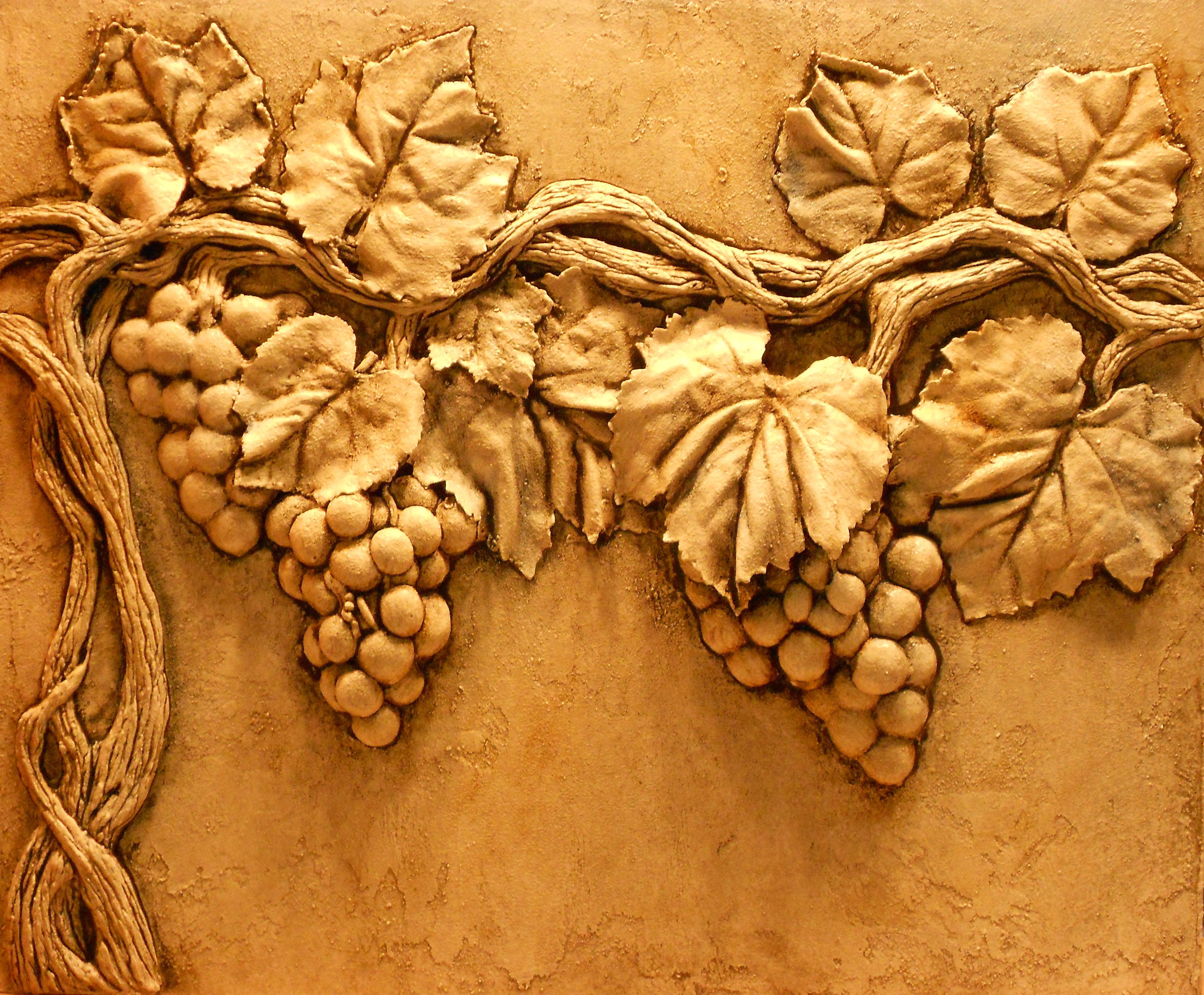 Architectural relief plaster high wall sculpture