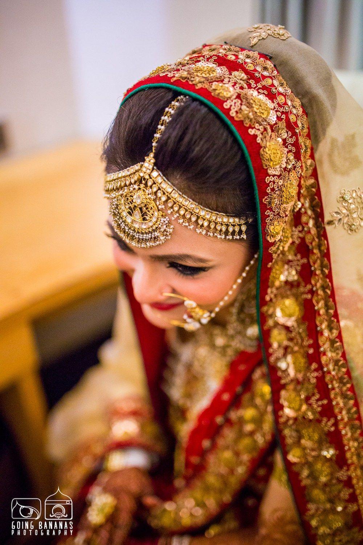 gold bridal hair accessories   indian wedding blog   think