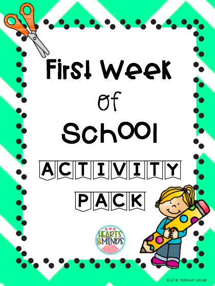First Week Of School Activity Pack K 3 Fun Stuff For Elementary