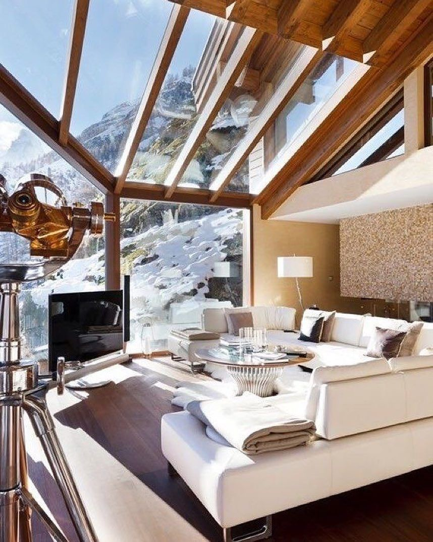 And chalet living rooms are really special as they are spacious warm and so inviting