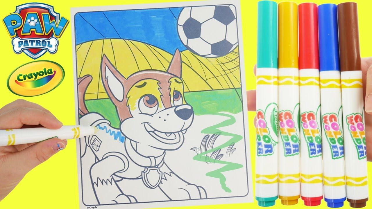 Paw Patrol Chase Color And Play Club House Paint Disney Junior Animated Magic Coloring Book Learn Colors With This Magical Page Of