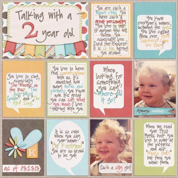 Scrapbook Inspiration Journal Cards Some Simple Scrapbooking