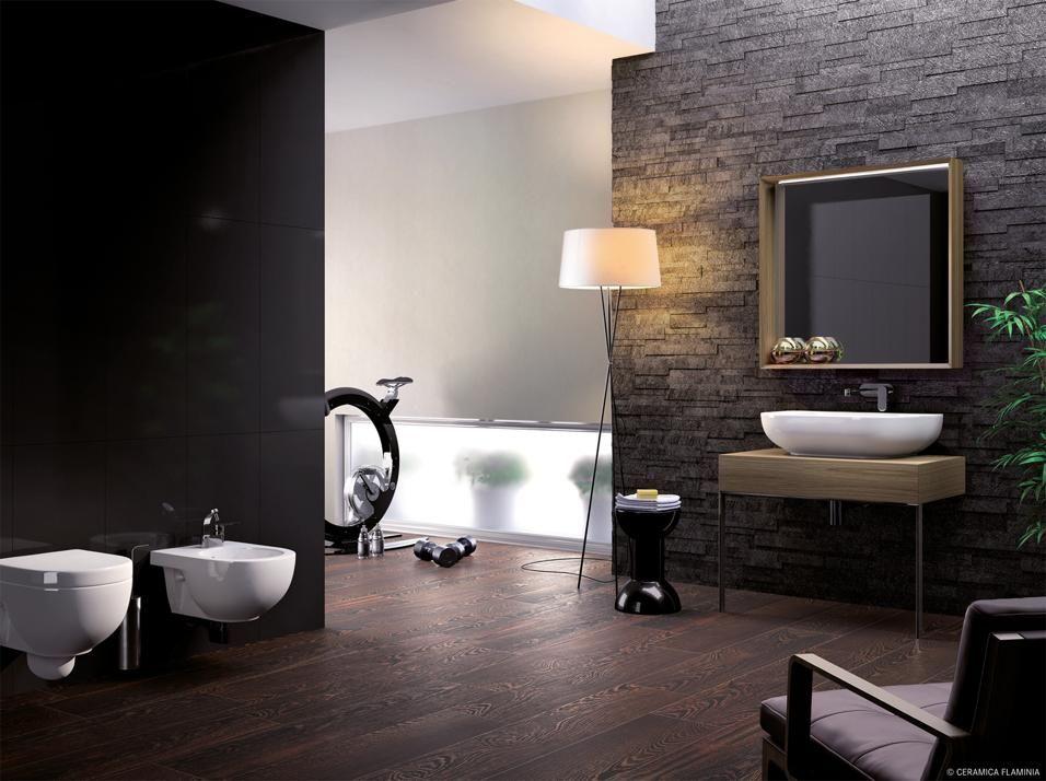 Arredi minimali sanitari eleganti e rivestimenti for Arredi sanitari