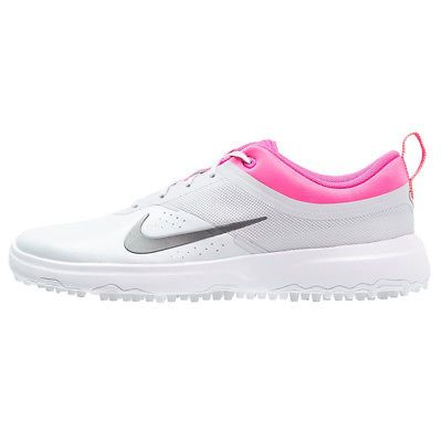 check out 6791c 23d82 Golf Shoes 181147 New Womens Nike Akamai Golf Shoes Grey Pink - Choose  Size!