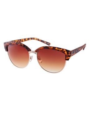 1508edf4285 ASOS Half Frame Angular Cat Eye Sunglasses in Tortoise - my favourite  sunglasses at the moment