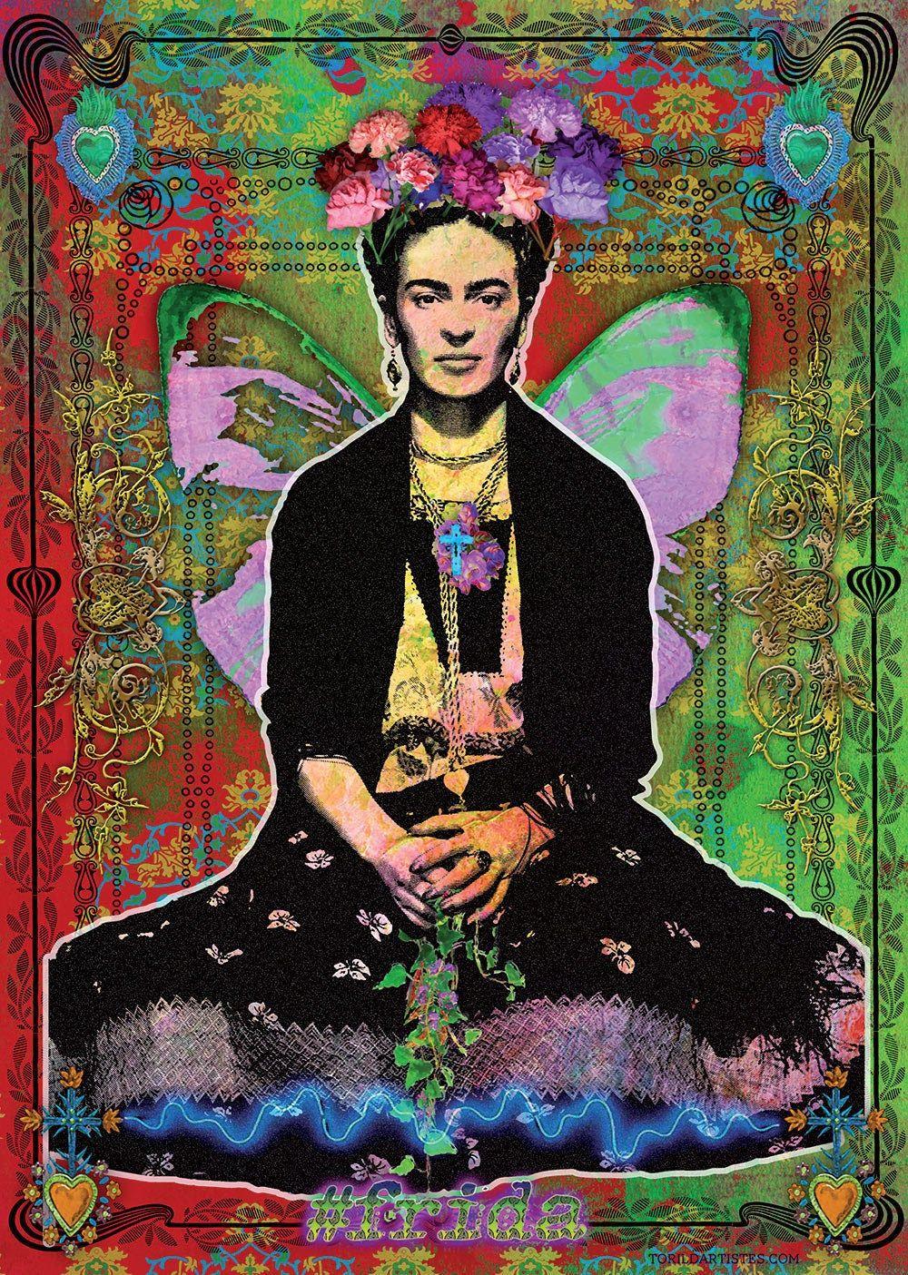 Frida Flowers Poster   Frida kahlo, Poster art et Frida kahlo peinture