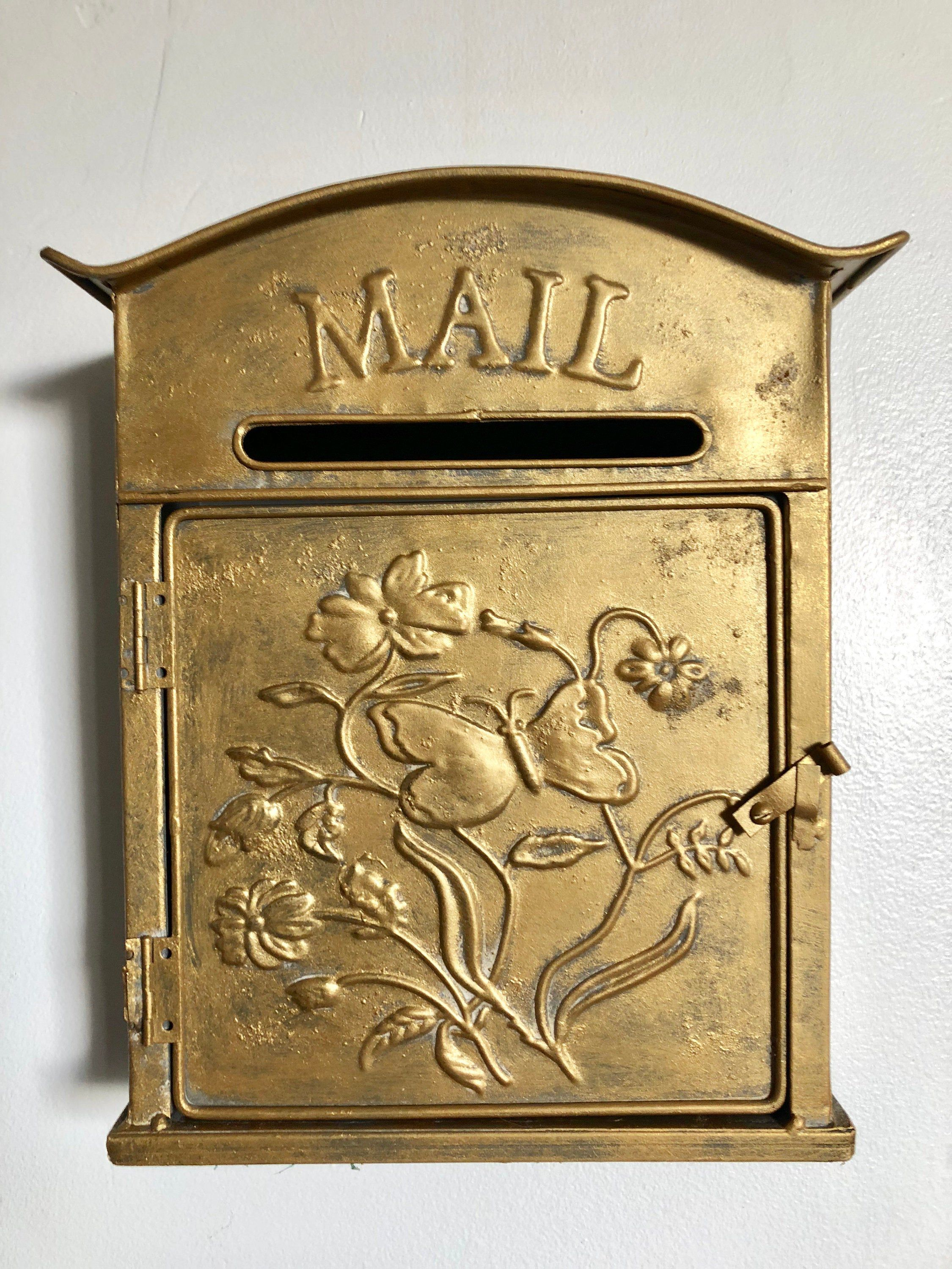 Wall Mounted Mail Box Post Mail Box Butterfly Mail Box In 2020 Post Box Wall Mounted Mounted Mailbox Wall Mount Mailbox