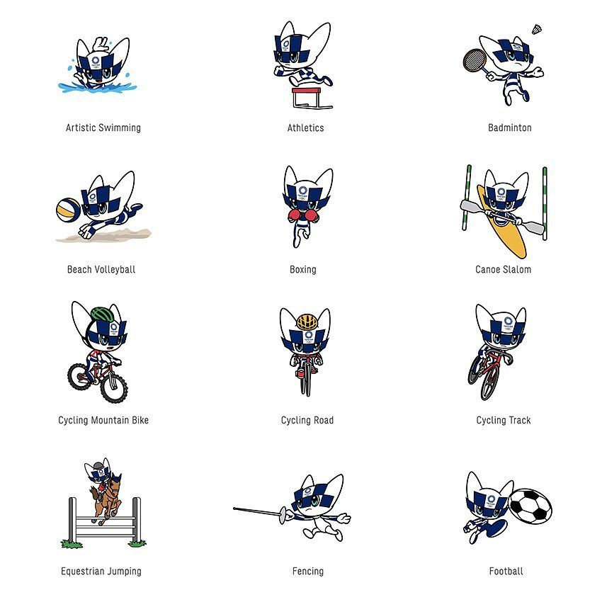 Tokyo 2020 Olympics The Mascot images representing