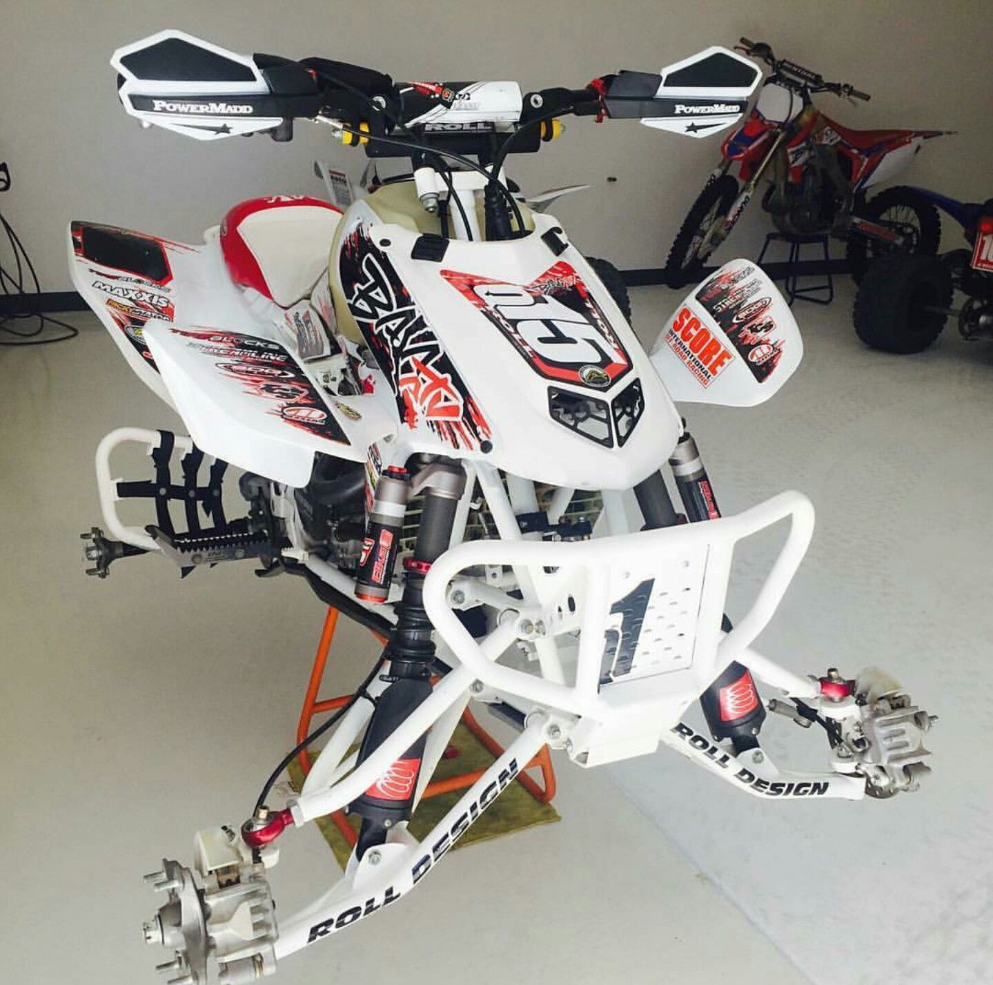 Roll Design Trx450r With Images Atv Quads Atv Motocross