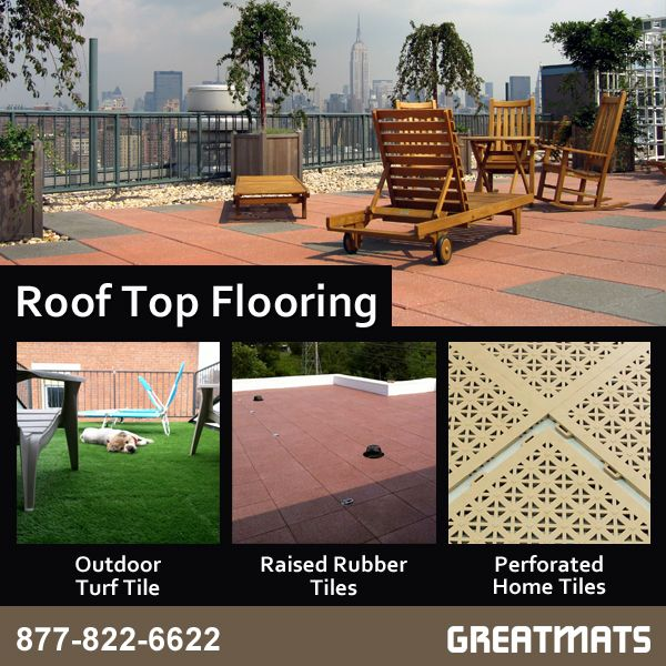 Create A Beautiful Rooftop Patio With Our Flooring Options