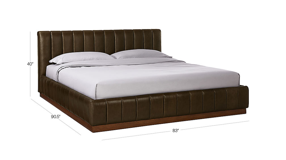Forte Leather Bed Leather Bed Bed Furniture Bed