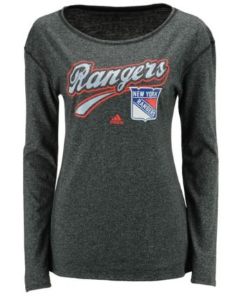 the latest 07618 d37bf adidas Women s New York Rangers Pearlized Long Sleeve T-Shirt - Black M