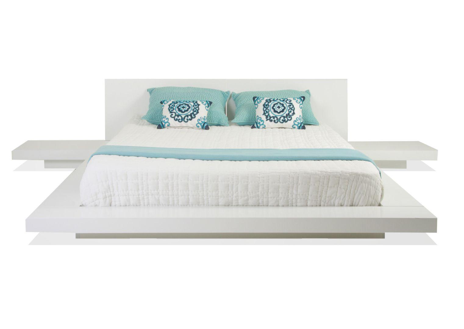 White Platform Japanese Bed Furniture Bedroom Furniture Bed