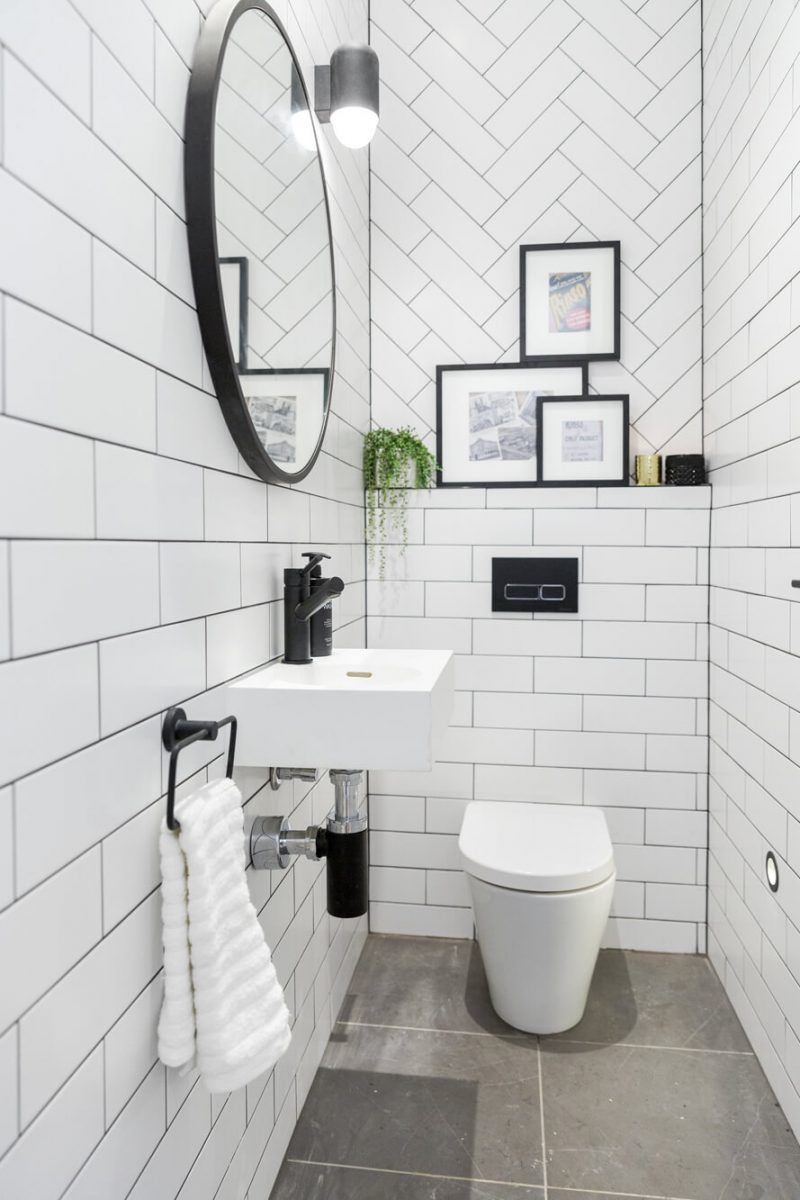 The Block 2016 - Week 7 Hall, Powder Room & Laundry Reveals #modernpowderrooms