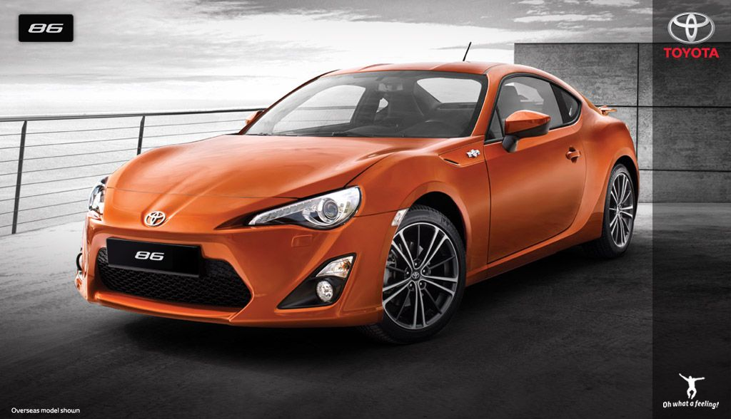 The 86 - Toyota's new rear wheel drive sports car. Think this is what my partner wants for his birthday this year