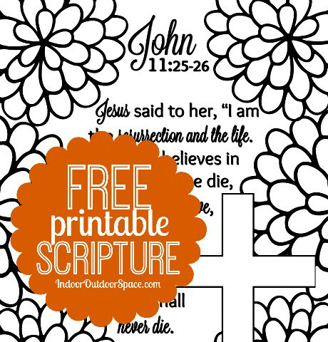 Free Scripture Verse Easter Coloring Page From John 11