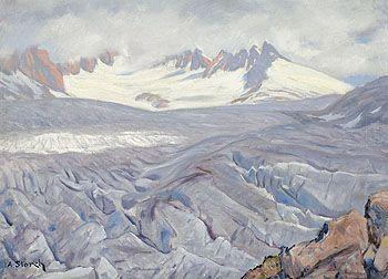 ANTON JOSEF STORCH-ALBERTI  Verona 1892 – 1976 Wien Rhonegletscher