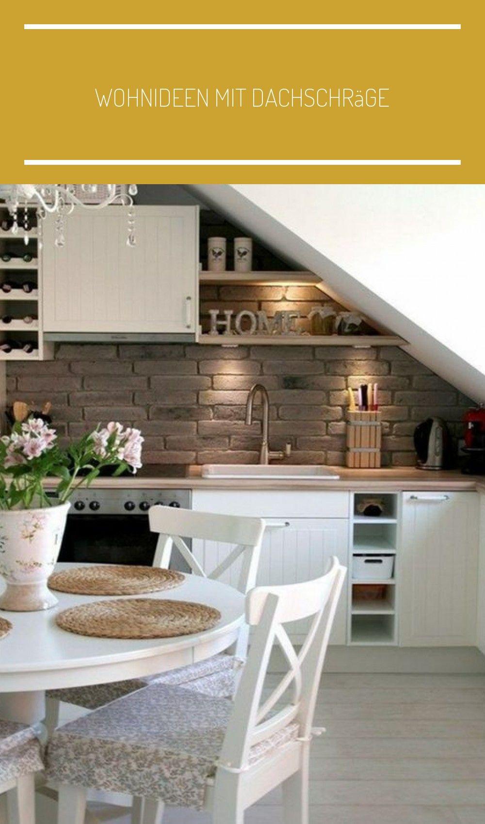 wohnideen mit dachschräge in 2020   küche dachschräge
