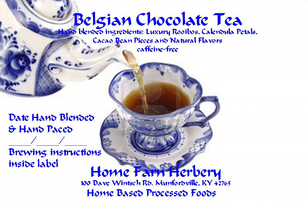Incredible Belgian Chocolate Tea, Ord..., Food items in