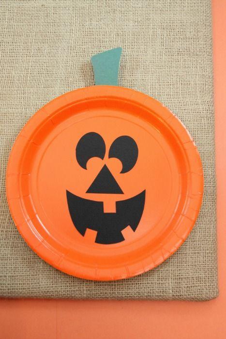 Paper Plate Jackolantern ~ The EASIEST Halloween pumpkin craft for kids & Paper Plate Jackolantern ~ The EASIEST Halloween pumpkin craft for ...