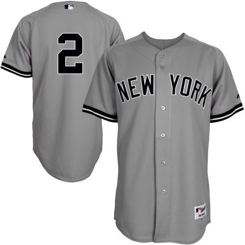Majestic Derek Jeter New York Yankees Authentic On Field Player Jersey Gray Derek Jeter New York Yankees Jersey